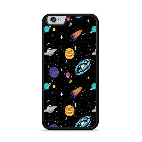 Space Cartoon Aliens Rocket Ships Planets Galaxy iPhone 6 Plus | iPhone 6S Plus HÜLLE