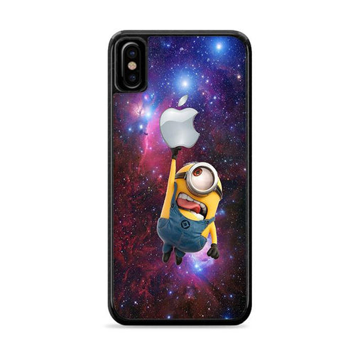 Minion Catch Apple in Galaxy iPhone XS Max HÜLLE