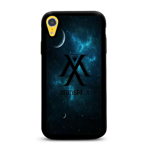 Monsta X Logo Galaxy iPhone XR HÜLLE