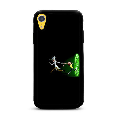 Rick and Morty Galaxy Black Portal iPhone XR HÜLLE