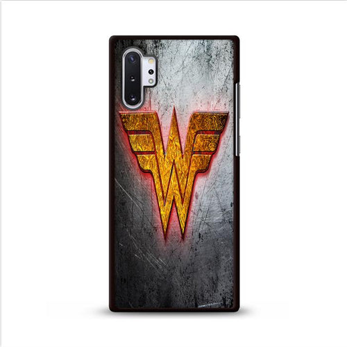 Wonder Woman Metal Logo Samsung Galaxy Note 10 Plus HÜLLE