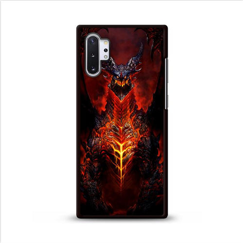 World of Warcraft Deathwing Dragon Samsung Galaxy Note 10 Plus HÜLLE