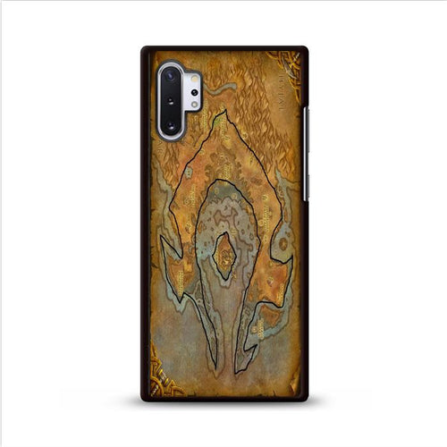 World of Warcraft Tribal Horde Map Samsung Galaxy Note 10 Plus HÜLLE