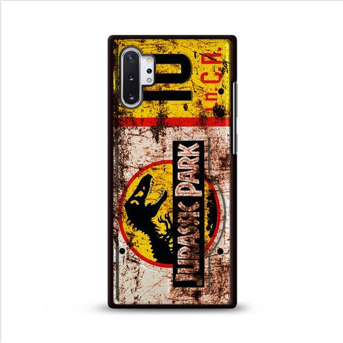 Jurassic Park License Plate Jeep 10 Samsung Galaxy Note 10 Plus HÜLLE