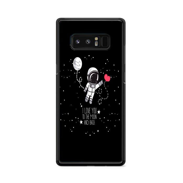 Astronaut I Love You To The Moon and Back Samsung Galaxy Note 8 HÜLLE