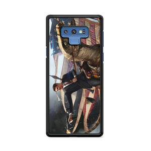 George Washington Riding Eagle Patriotism Samsung Galaxy Note 9 HÜLLE