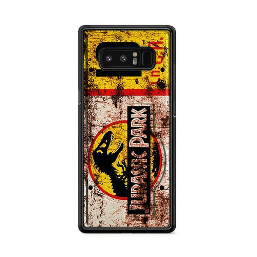 Jurassic Park License Plate Jeep 10 Samsung Galaxy Note 8 HÜLLE
