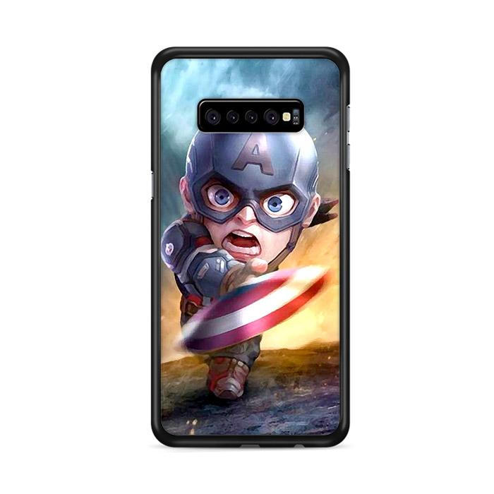 Chibi Fancy Captain America Samsung Galaxy S10 Plus HÜLLE