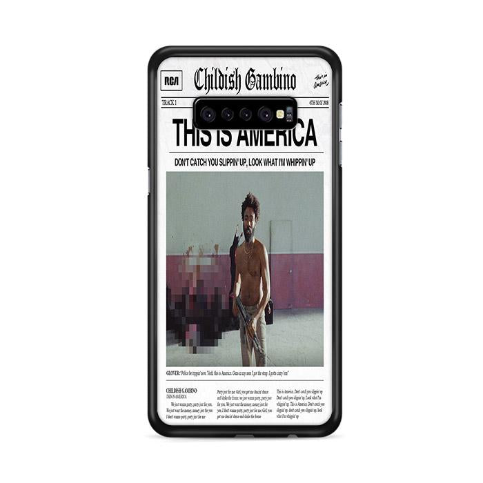 Childish Gambino This is America Newspaper Samsung Galaxy S10e HÜLLE