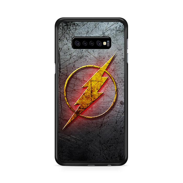 The Flash Metal Logo Samsung Galaxy S10 HÜLLE