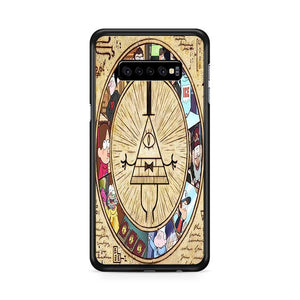 The Gravity Falls Intrigue Triangle Eye Characters Samsung Galaxy S10 Plus HÜLLE