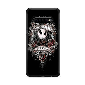 The Nightmare Before Christmas Black Samsung Galaxy S10 Plus HÜLLE