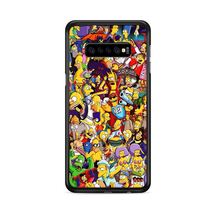 All Simpson Characters Samsung Galaxy S10e HÜLLE