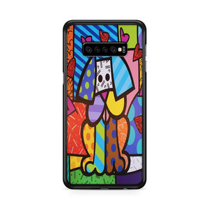 Art Britto Pet Dog Samsung Galaxy S10e HÜLLE