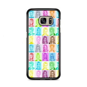 Glee Cast Sketch Multicolor Samsung Galaxy S7 HÜLLE