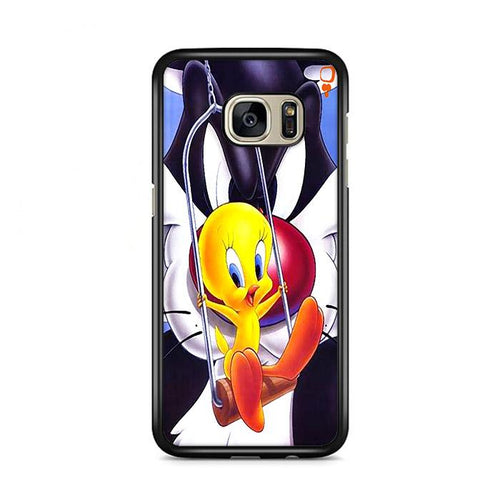 Tweety Bird and Sylvester Samsung Galaxy S7 Edge HÜLLE