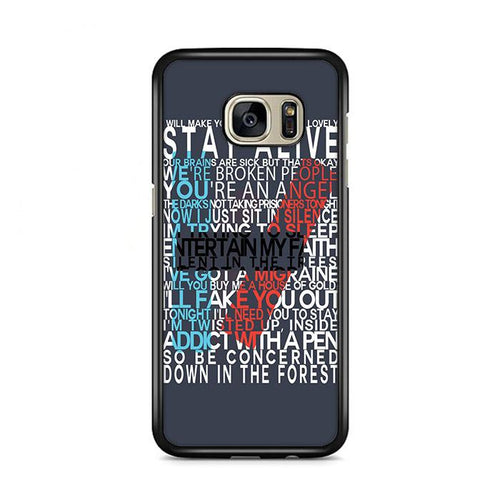 Twenty One Pilots Lyric Samsung Galaxy S7 Edge HÜLLE