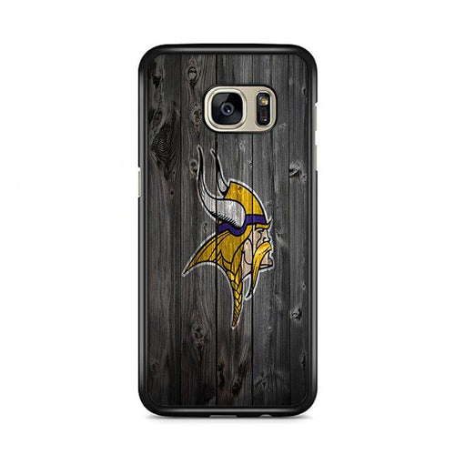 Viking Grey Wooden Samsung Galaxy S7 Edge HÜLLE