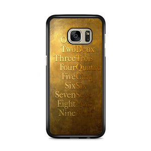 American Musical Hamilton One To Nine Samsung Galaxy S7 Edge HÜLLE