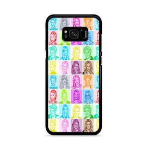 Glee Cast Sketch Multicolor Samsung Galaxy S8 HÜLLE
