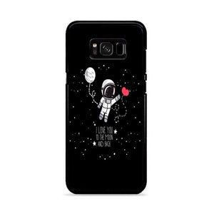 Astronaut I Love You To The Moon and Back Samsung Galaxy S8 HÜLLE