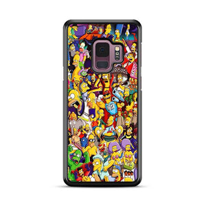 All Simpson Characters Samsung Galaxy S9 HÜLLE