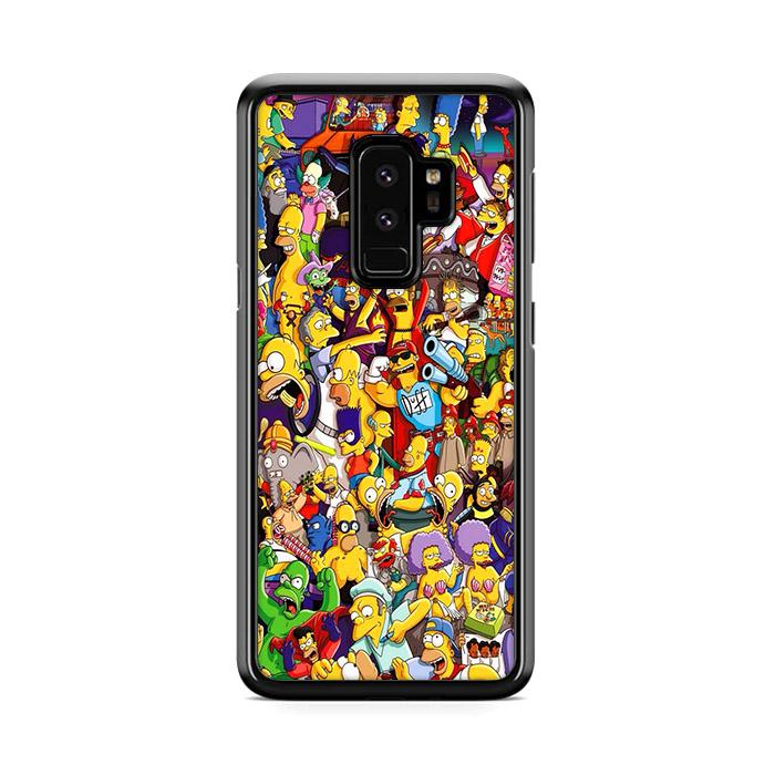 All Simpson Characters Samsung Galaxy S9 Plus HÜLLE
