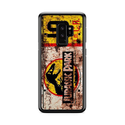 Jurassic Park License Plate Jeep 10 Samsung Galaxy S9 Plus HÜLLE