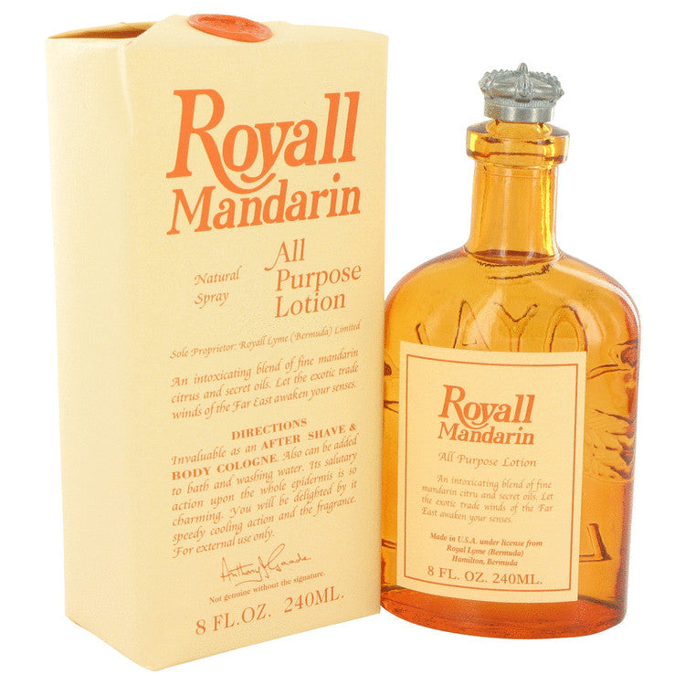 Royall Mandarin by Royall Fragrances All Purpose Lotion - Cologne 8 oz for Men
