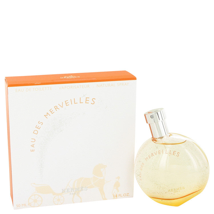 Eau Des Merveilles by Hermes Eau De Toilette Spray 1.6 oz for Women