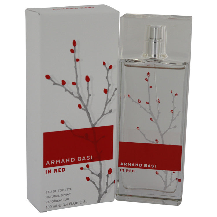 Armand Basi in Red by Armand Basi Eau De Toilette Spray 3.4 oz for Women