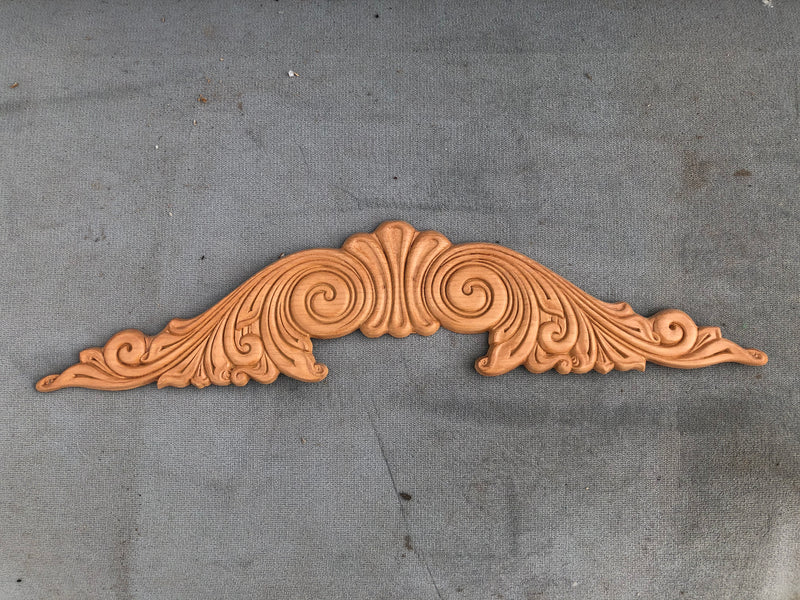 Carved wood applique