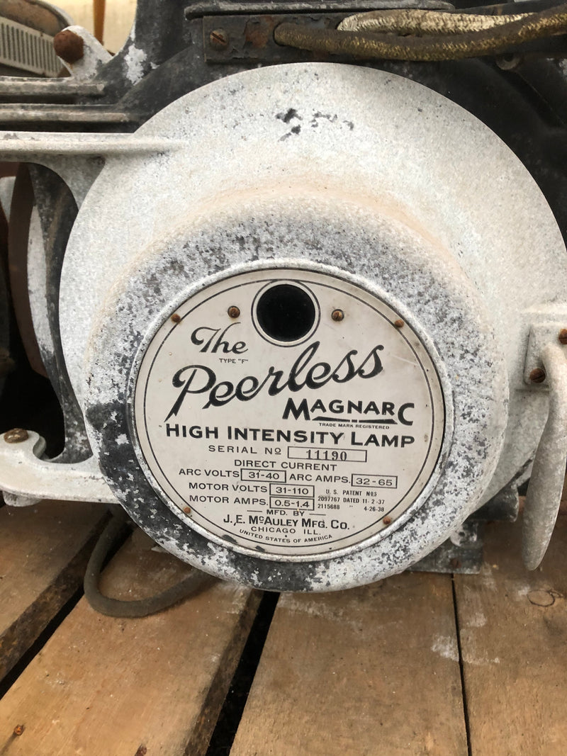 Vintage - Peerless high intensity lamp (theatre lights)