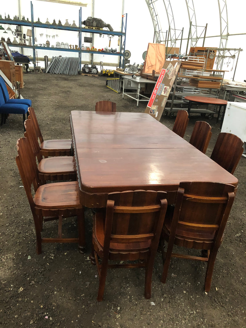 Furniture - boardroom/dining table and 9 chair set