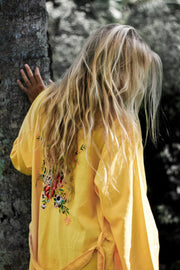 Le Voyage Kimono // The Flower in Dark Yellow