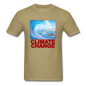 Climate Change Wave - khaki