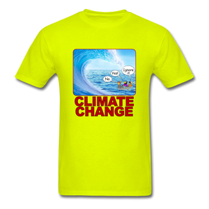 Climate Change Wave - safety green