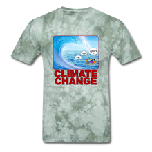 Load image into Gallery viewer, Climate Change Wave - military green tie dye