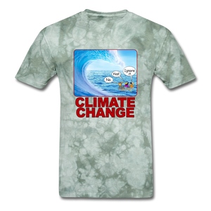 Climate Change Wave - military green tie dye