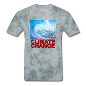 Climate Change Wave - grey tie dye