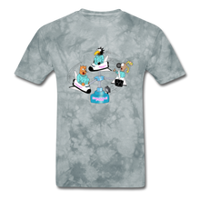 Load image into Gallery viewer, Shuttle Fun - grey tie dye