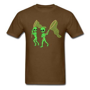 Space Aliens Hunting - brown