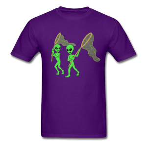 Space Aliens Hunting - purple