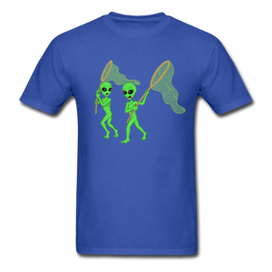Space Aliens Hunting - royal blue