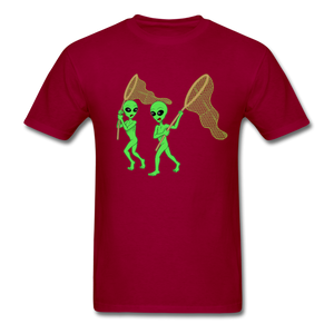Space Aliens Hunting - dark red