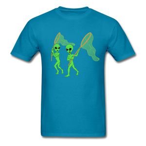 Space Aliens Hunting - turquoise