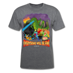 Grasshoppersaurus Everything Will Be Fine No Text - mineral charcoal gray