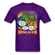 Load image into Gallery viewer, Grasshoppersaurus Everything Will Be Fine Text - purple