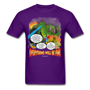 Grasshoppersaurus Everything Will Be Fine Text - purple