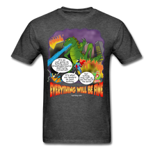 Load image into Gallery viewer, Grasshoppersaurus Everything Will Be Fine Text - heather black